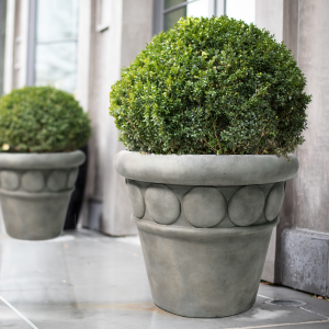 32″ diaCommercial Planter Cement Lifestyle