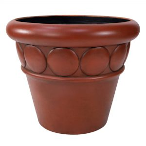 "32"" dia Commercial Planter Terracotta Finish"