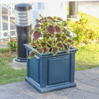 14 in. sq. Neptune Blue Composite Straight Side Panel Planter (PC7140NB)