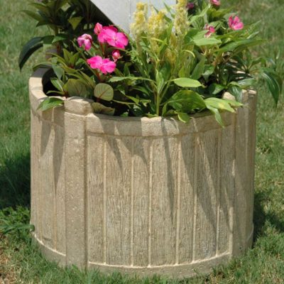 18-1/2 in. D Cast Stone Mailbox Planter in Limestone Finish (PF4629AL)