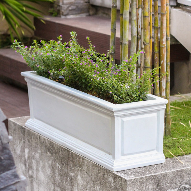 30 in. L White Composite Panel Window Box with Brackets (PC7226WHT)