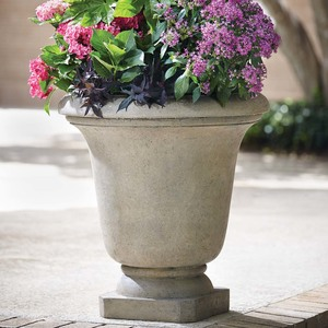 29.25 in. H Granite Stone Bell Planter - Composite Clay & Terracotta Planter