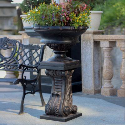 24 in. H Charcoal Cast Stone Classic Pedestal (PF7439AC)